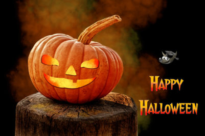 Happy Halloween Pompoen