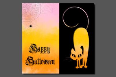 Halloweenkaart ontwerp 2018