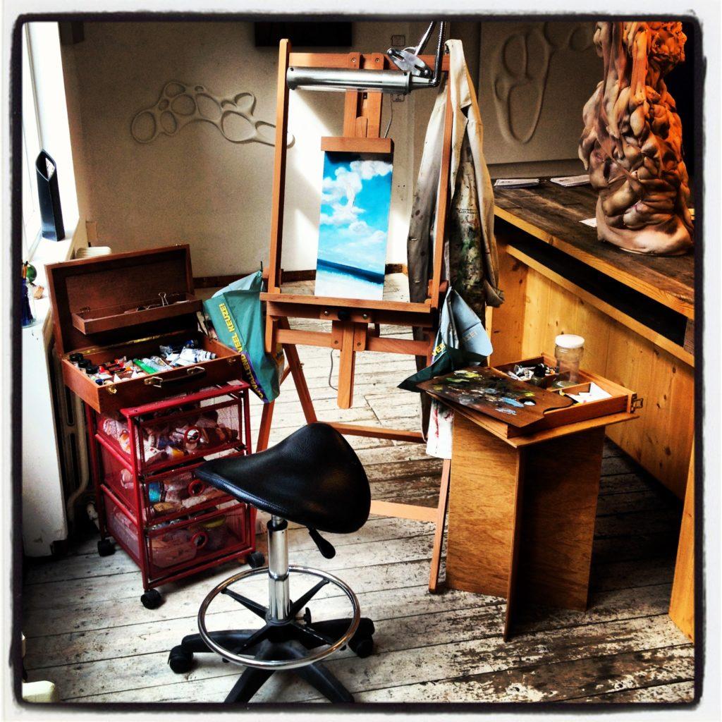 Een vierkante meter atelier in de Popup galerie te Utrecht