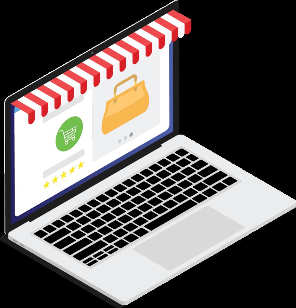 voorbeeld maatos webshop op laptop