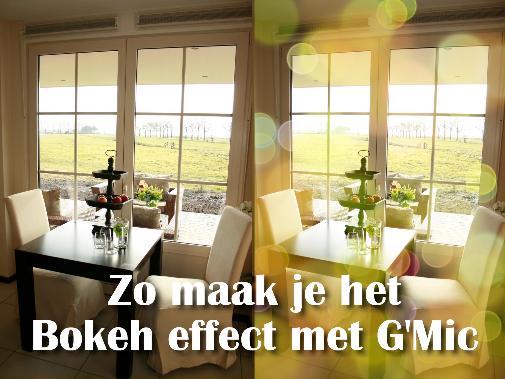 bokeh effect G'Mic