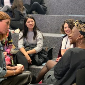 Leading the conversation for a Women talk Tech meeting