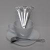 Set van 6 hartvormige lepels, leuk voor bij de thee, koffie met een heerlijk dessert - lepeltje liefde, leuke lepel