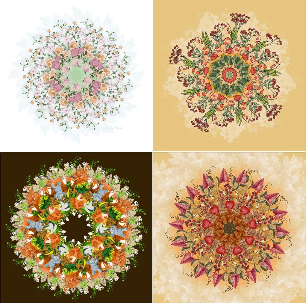 Mandala's gemaakt met Gimp
